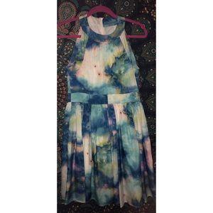 Modcloth x Fervour High-Neck Cloud/Galaxy Dress
